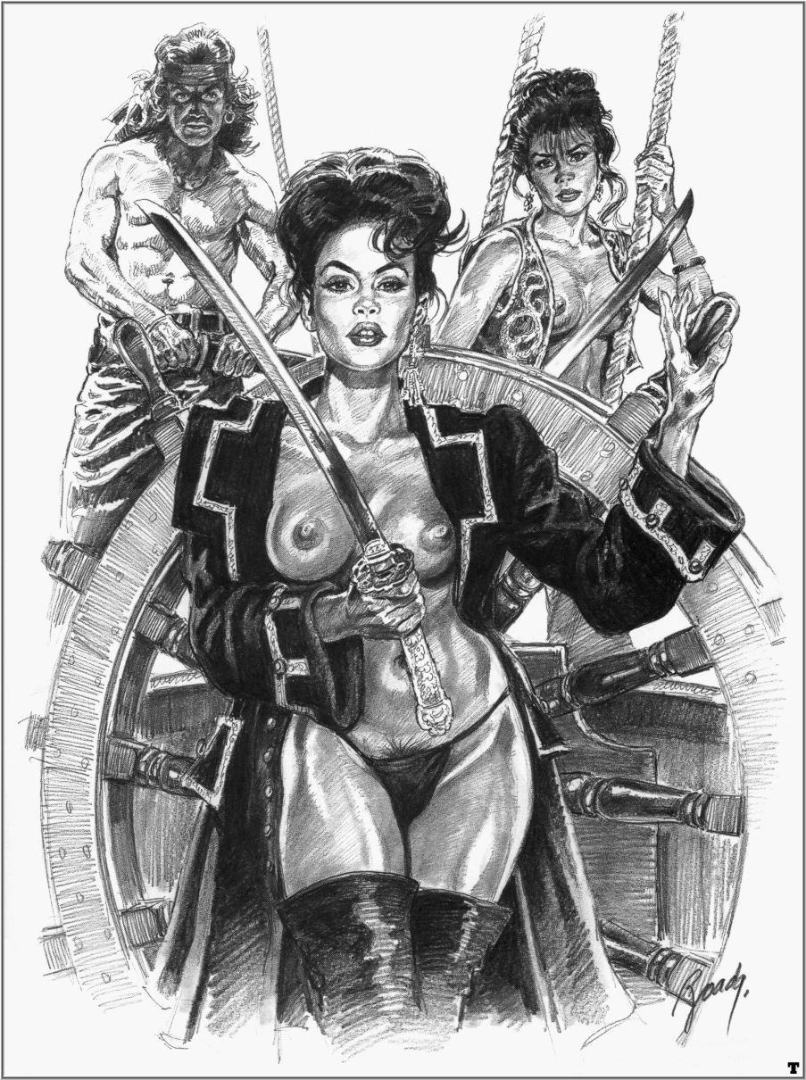 Comics art. Vintage erotic women 3.