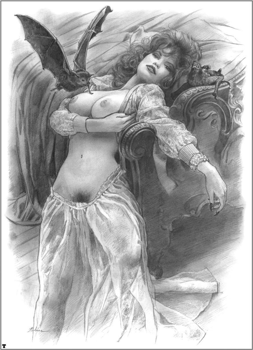 Рисованная чернобелая эротика 13 фотография